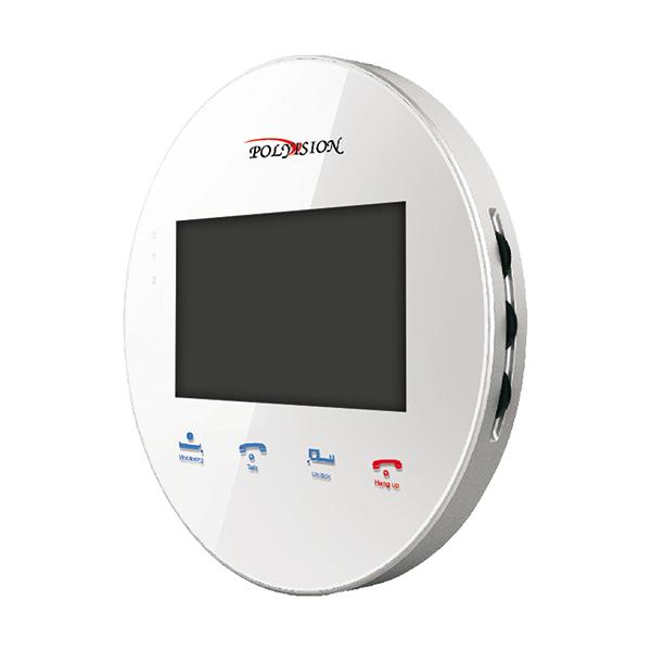 PVD-4S v.5.3 white миниатюрный круглый цветной видеодомофон