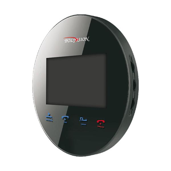 PVD-4S v.5.3 black миниатюрный круглый цветной видеодомофон