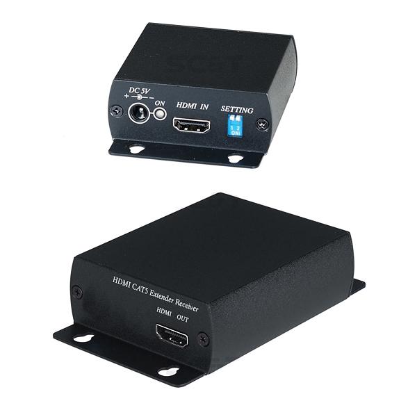 Комплект для передачи HDMI сигнала по одному кабелю витой пары