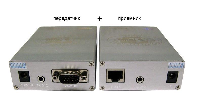 Комплект (передатчик+приёмник) для передачи VGA