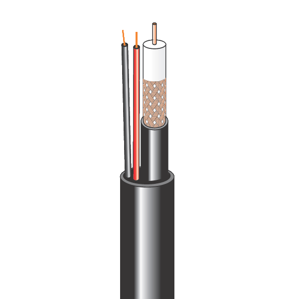 Комбинированный кабель для систем видеонаблюдения внешний (бухта 200 м)