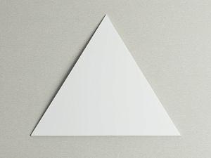 Пластик белый для знаков 205х205х205 мм