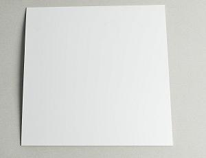 Пластик белый для знаков 255х255 мм