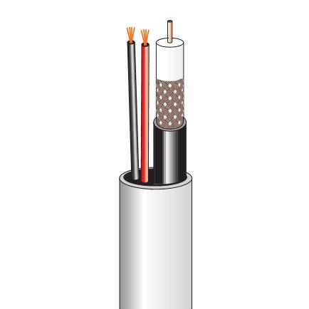 Комбинированный кабель для систем видеонаблюдения (200 м, внутренний)