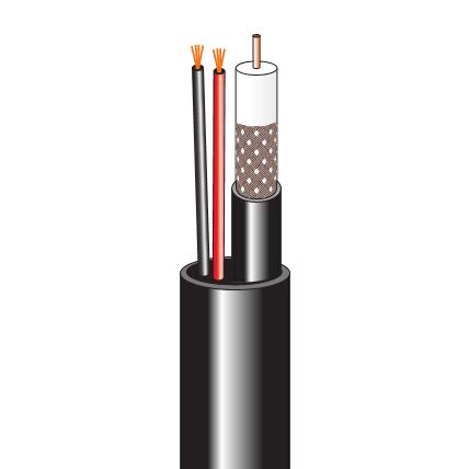 Комбинированный кабель для систем видеонаблюдения (200 м, наружный)