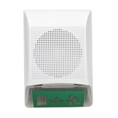 Прибор управления оповещением с акустической системой и световым табло