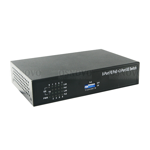 PoE-коммутатор Fast Ethernet на 10 портов