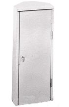 Шкаф для огнетушителя ШПО-106УЗБ (угловой, закрытый, белый)