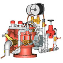 Узел управления спринклерный воздушный УУ-С150/1.2В3(Э24)-ВФ.04 с клапаном КСД-150 типа КМУ с электроприводом на 24В