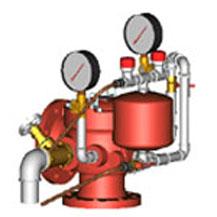 Узел управления спринклерный водозаполненный УУ-С100/1.2В-ВФ.04 исп.00 с клапаном КС 100 типа