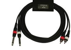 DUL002/1M Шнур RCA x 2 – Jack x 2, длина 1 м