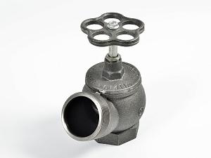 Клапан пожарный чугунный РПТК-2 угловой 125° (муфта-цапка)