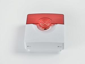 Комбинированный светозвуковой красно-белый оповещатель ОПОП 124-7