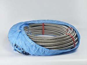 Труба гофрированная Kofulso неотожженная (нержавеющая сталь) - бухта 50/30 м