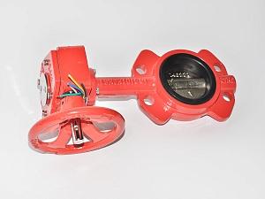 Затвор дисковый Dinansi Machaon BFV-02/W (редуктор-руль)