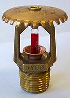 Спринклер пенно-водяной быстродействующий TYCO TY3131 (бронза, К=80, колба 3 мм) розеткой вверх