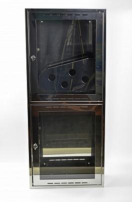 Шкаф пожарный из зеркальной нержавейки Престиж-03-НО [ШПК-320] (навесной открытый)