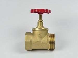 Клапан пожарный латунный КПЛП прямоточный (муфта-цапка)