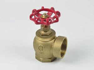 Клапан пожарный латунный КПУ угловой 90° (муфта-муфта)