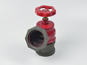 Клапан пожарный КПЧ угловой чугунный 125° (цапка-цапка) Апогей