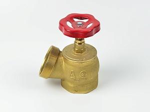 Клапан пожарный КПЛ угловой латунный 125° (муфта-цапка) Апогей