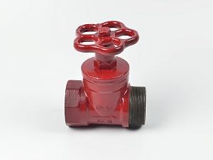 Клапан пожарный чугунный КПЧП прямоточный (муфта-цапка)