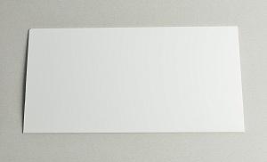 Пластик белый для знаков 305х155 мм