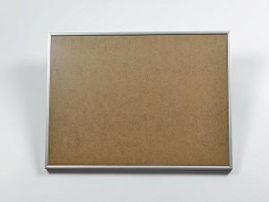 Рамка серебряная алюминиевая с оргстеклом (под план 30х40 см)