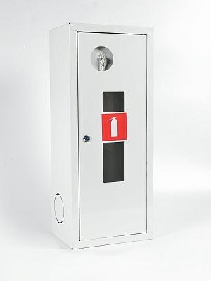 Шкаф для огнетушителя ШПО-103НОБ (навесной открытый белый)