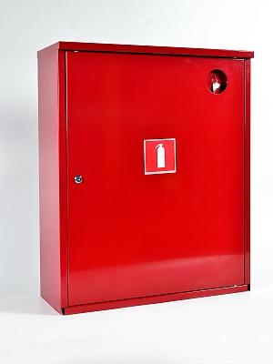 Шкаф для огнетушителя ШПО-112НЗК (навесной закрытый красный)