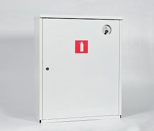 Шкаф для огнетушителя ШПО-112НЗБ (навесной закрытый белый)