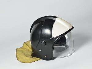 ШКПС (шлем-каска пожарного спасателя)с пелериной (черная)
