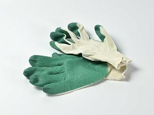 Перчатки трикотажные с латексом (х/б)