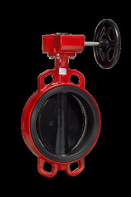Затвор дисковый Гранвел ЗПВС-FL (редуктор, концевой выключатель)