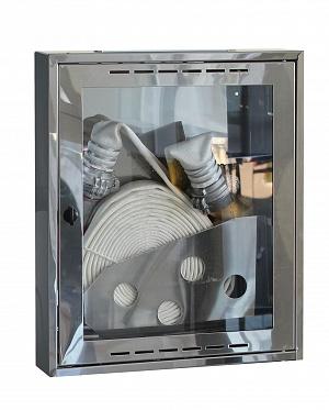 Шкаф пожарный Престиж ШПК-310НО (навесной открытый) зеркальная нержавейка