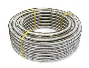 Труба гофрированная Kofulso отожженная (нержавеющая сталь) - бухта 50/30 м